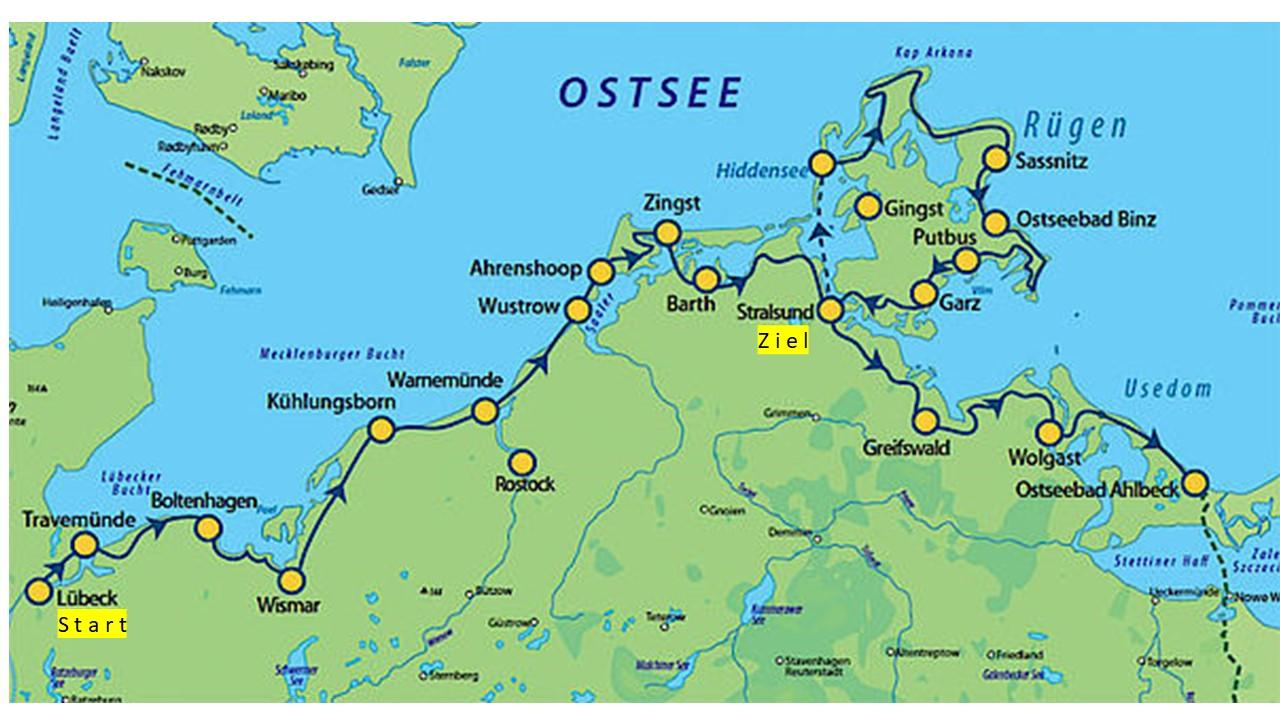 Ostseeradweg von Lübeck nach Stralsund - egreisen.com